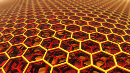 Background with 3D hexagons pattern, abstract  background. photo