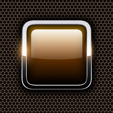 Empty icon with metal frame Vector