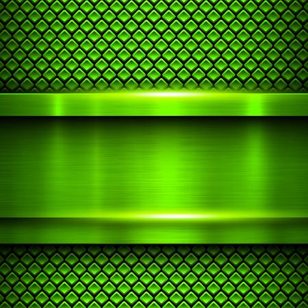 metallic: Background metallic green Illustration