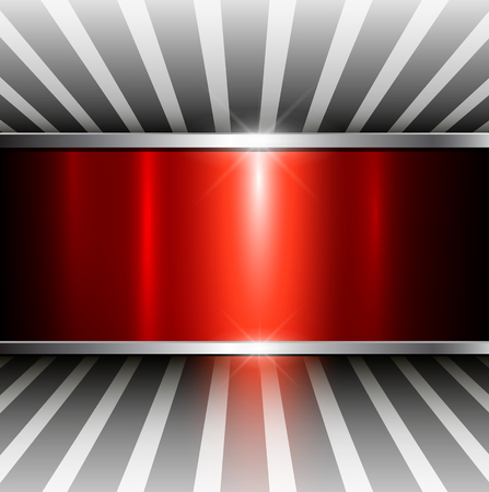smooth surface: Abstract 3D background, red metallic, vector illustration. Illustration
