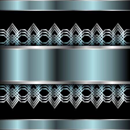 metallic: Abstract metallic background, vector illustration. Stock Illustratie