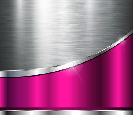 Metallic background polished steel texture, vector design. 일러스트