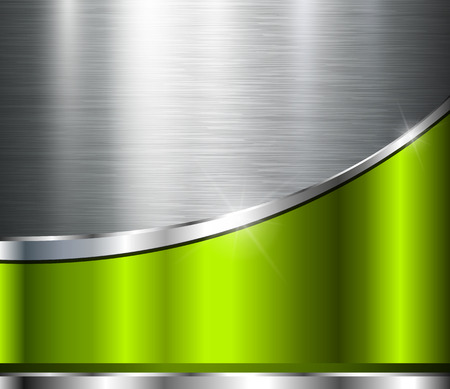 verde: Fondo metálico de la textura de acero pulido, diseño del vector.
