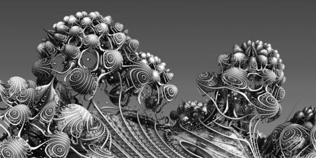 structures: Background with fantastic 3D structures, abstract fractal design.