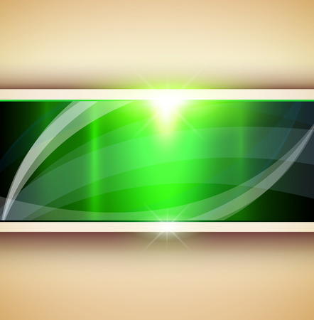 Abstract 3D background, green vector illustration.