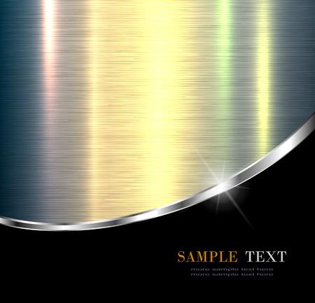 Elegante metalen ontwerp als achtergrond. Stock Illustratie