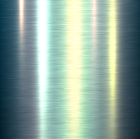 smooth surface: Metal background, polished metallic texture, vector illustration.
