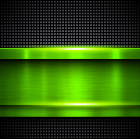 brushed: Background green metal texture, vector illustration.