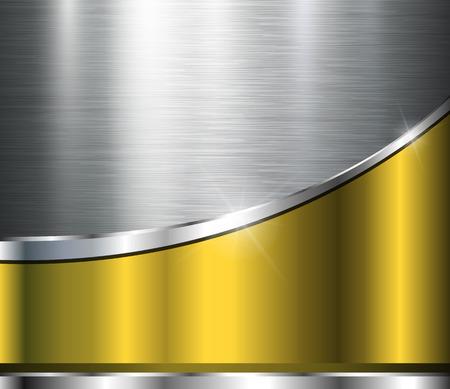 Metallic background polished steel texture, vector design. Stock Illustratie