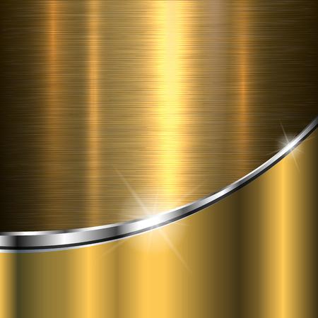 smooth background: Texture di sfondo metallo oro, illustrazione vettoriale.