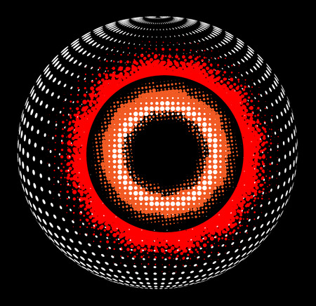 Abstract design: Abstract Halftone sphere, vector 3D design. Illustration