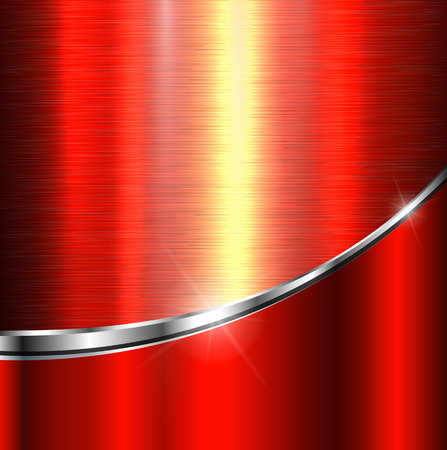 red metal: Background red metal texture, vector illustration.