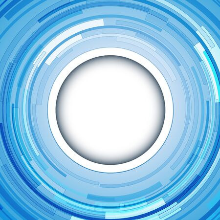 whirling: Abstract  background - circular 3D blue swirl, vector illustration.