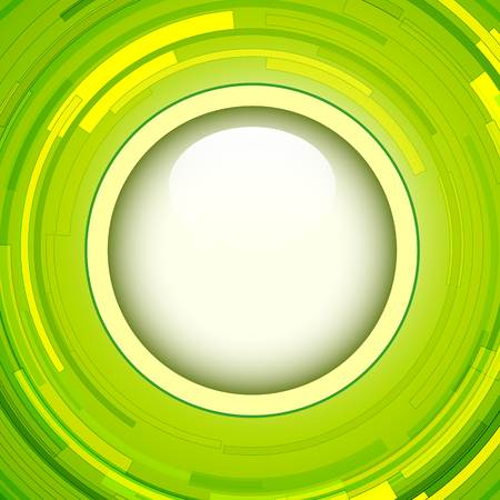 green swirl: Abstract green background - 3D swirl, vector illustration.