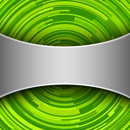 green swirl: Abstract  background 3D - green swirl, vector circular pattern.