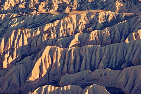goreme: Vintage photo of Cappadocia Rock formations in Goreme National Park, Turkey