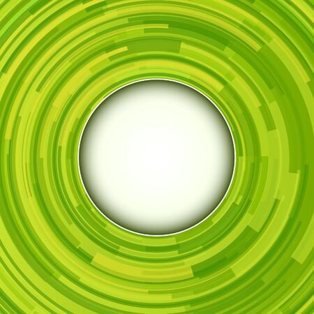 abstract swirl: Abstract green background - 3D swirl, vector illustration.