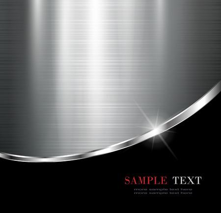 Eleganckie metaliczne tło, wektor projektu.