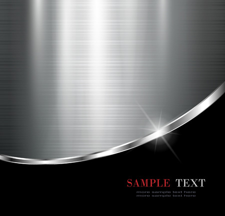 Sfondo metallico elegante, disegno vettoriale.
