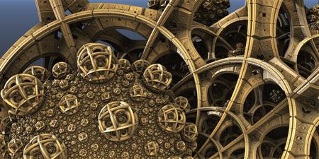 fantastic: Abstract background, 3D structures fantastic, fractal design.