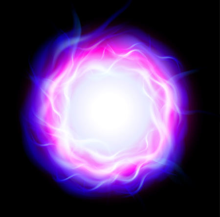 blue flame: Abstract background with burning ring and blue flames, vector illustration.