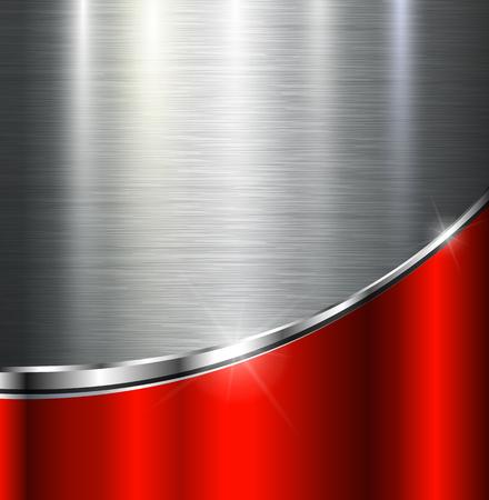 textuur: Metallic achtergrond gepolijst staal textuur, vector ontwerp. Stock Illustratie