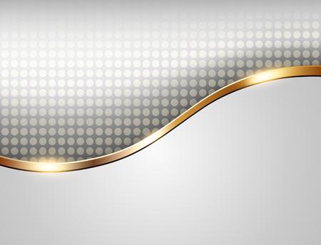 szare tło biznesowych z eleganckim złotym fali, ilustracji.