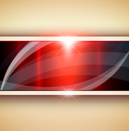 metallic: Abstract 3D background, red metallic, illustration. Illustration