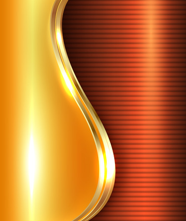 gold metal: Abstract gold shiny background, illustration.