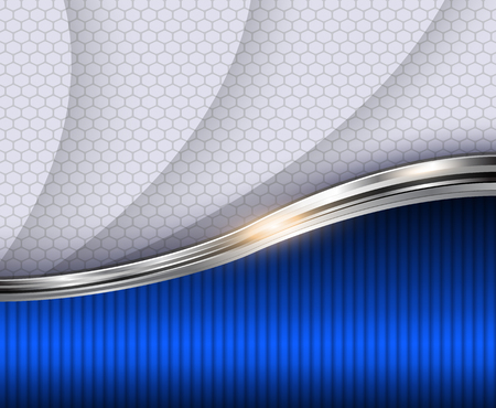 blue stripes: Abstract 3D background, illustration.