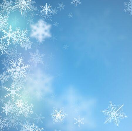 frozen winter: Winter frozen background with snowflakes, vector.