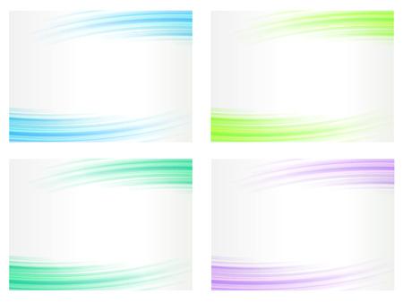 Abstracte achtergronden instellen, golvende lijnen, vector illustratie Stock Illustratie