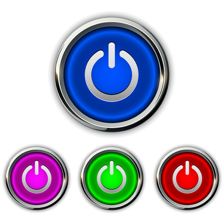 buttons vector: Power buttons icons, buttons vector design.