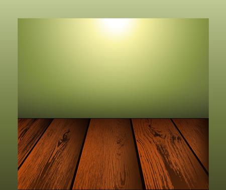 wooden floor: Wooden floor scene background, vector illustration.