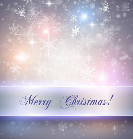 fondo elegante: Navidad elegante fondo con copos de nieve, ilustración vectorial Vectores