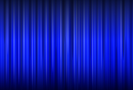 Background with blue curtain texture, vector illustration.