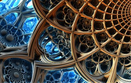 fantasy alien: Abstract background, fantastic 3D  structures, fractal design.