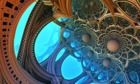 fantastic: Abstract background, fantastic 3D structures.
