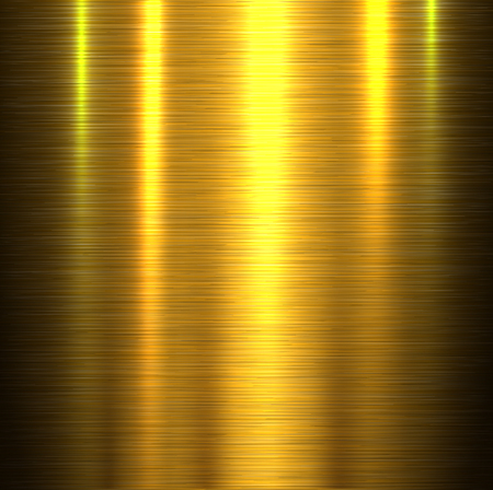 industry pattern: Metal texture background, shiny gold brushed metallic texture plate, vector illustration. Illustration