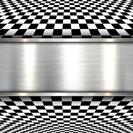 Hintergrund 3D mit Metall Textur, Vektor.