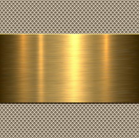 Achtergrond, gepolijst metaal textuur, vector. Stock Illustratie