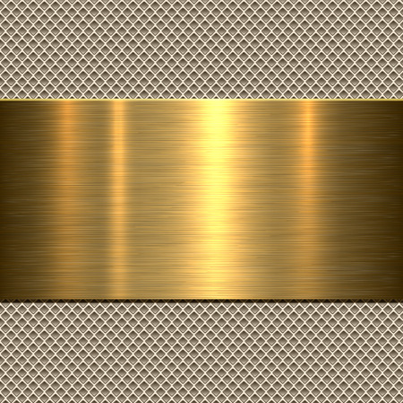 Background, polished metal texture, vector. Vectores
