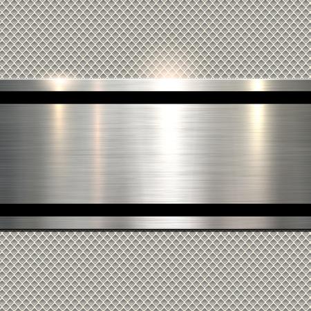 Achtergrond, gepolijst metalen textuur over naadloze patroon, vector.