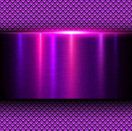 fibers: Background pink metal texture, vector illustration.