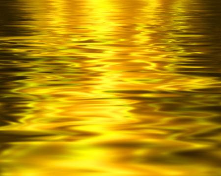 Liquid metal texture, gold metallic background.