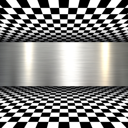 stainless: Background 3d with metal texture, vector.