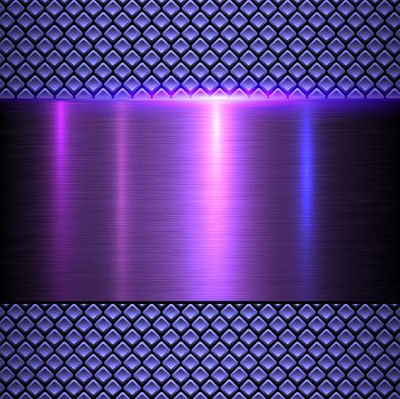 Resumen de fondo metálico, ilustración vectorial textura de metal brillante. Ilustración de vector