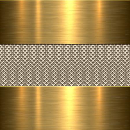 Hintergrund, poliertem Metall Textur, Vektor. Vektorgrafik