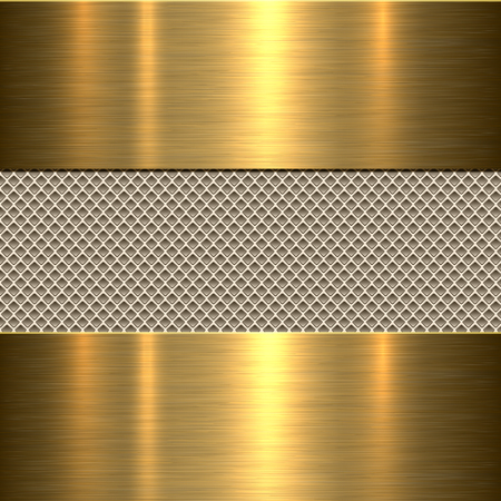 Background, polished metal texture, vector. Vettoriali