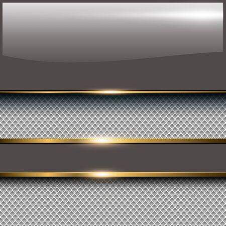 Business-Hintergrund mit glänzenden Banner, elegant Vektor-Illustration.